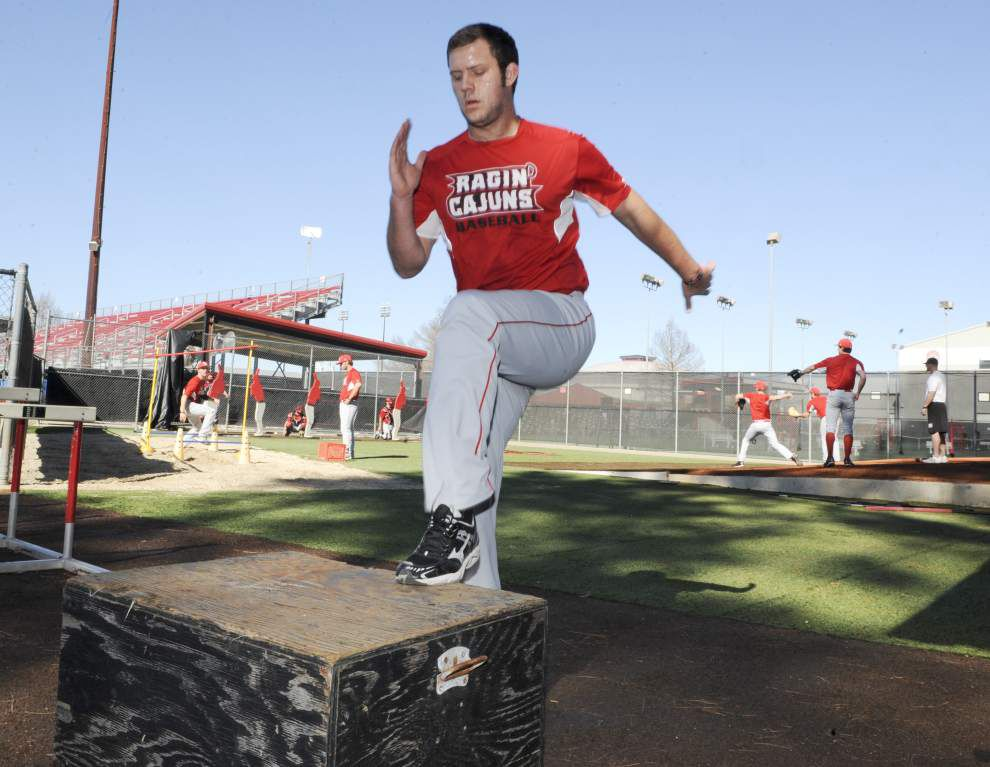 Cajuns' power righty Reagan Bazar 'continues to grow' _lowres