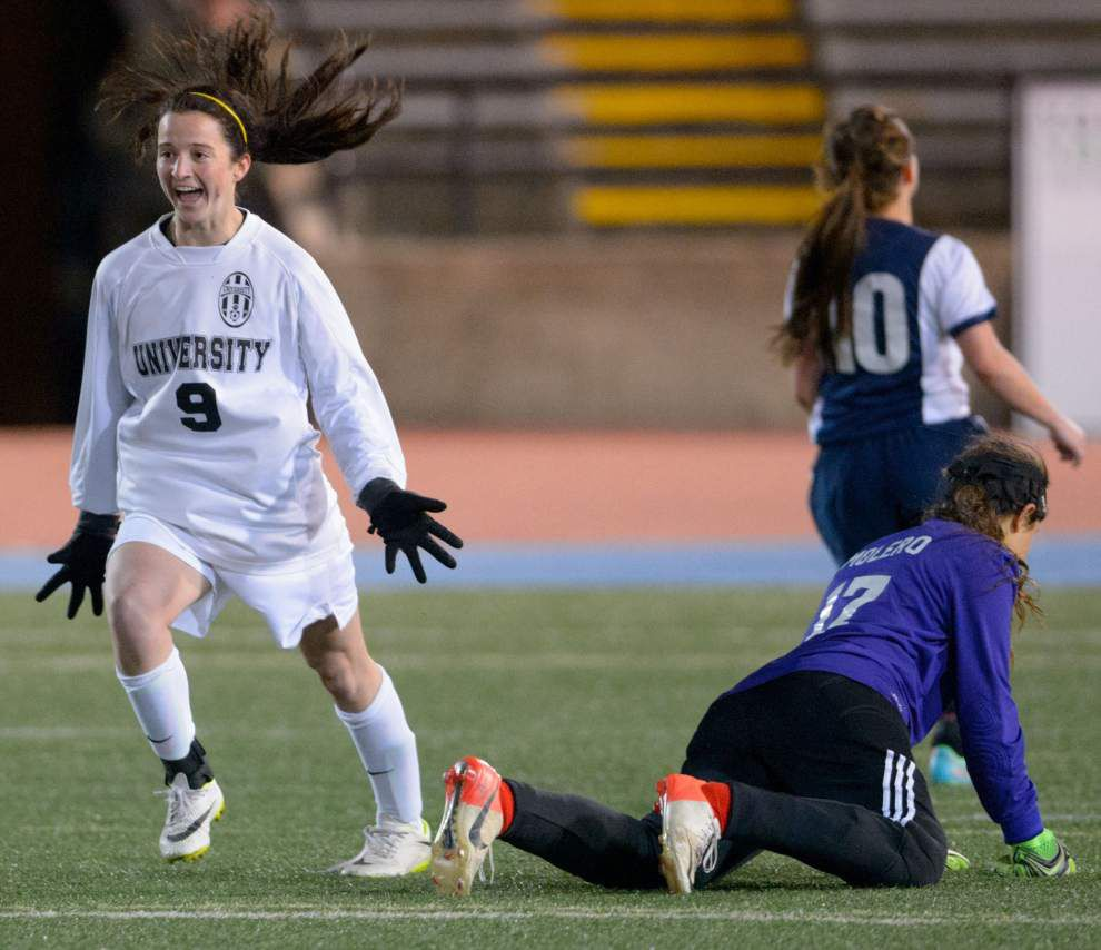 Kate McKowen's two goals, defense stand out in U-High's championship game victory over Pope John Paul II _lowres