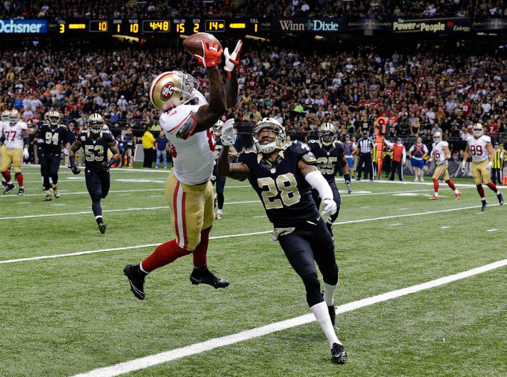 Saints cornerback Keenan Lewis out with a quad injury against 49ers _lowres