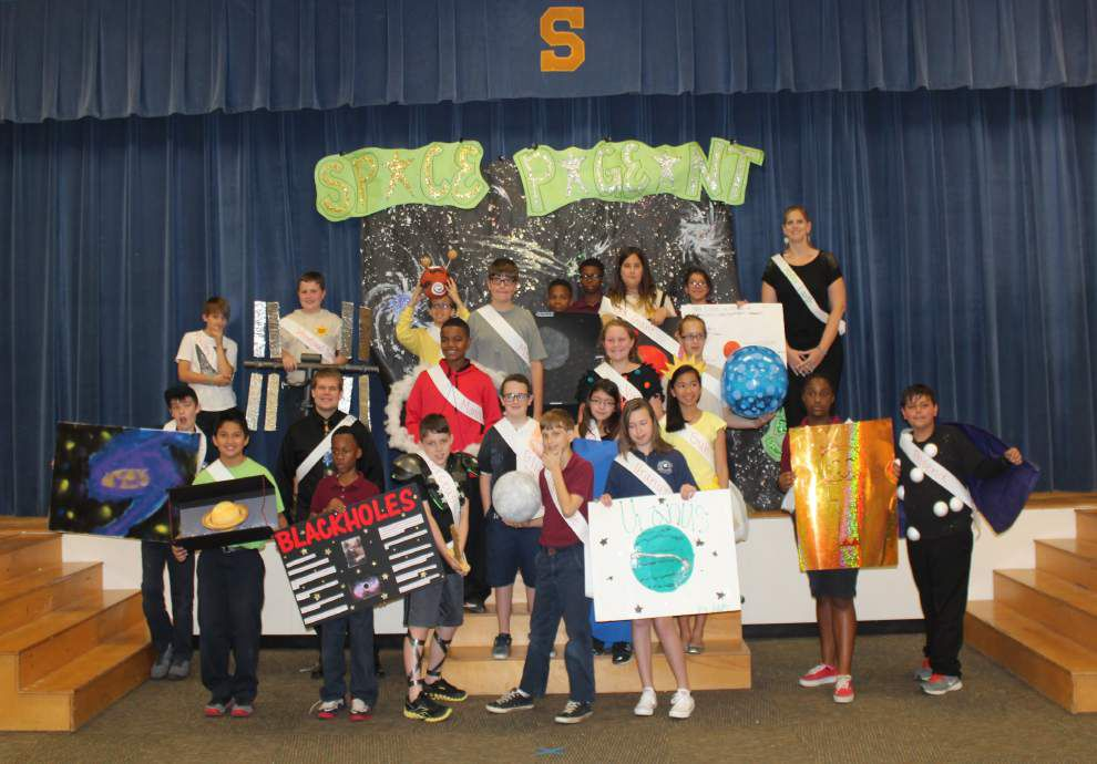 Students portray objects in first Space Pageant _lowres