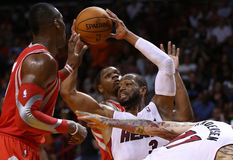 Gordon, Wade, Oden out for Heat against Pelicans on Saturday _lowres