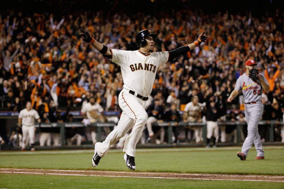 Travis Ishikawa's three-run homer sends Giants to the World Series _lowres