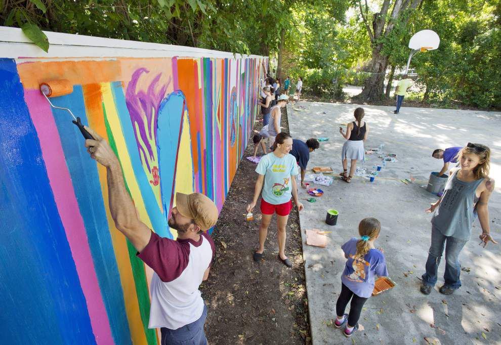 Gayosa Park gets Walls Project makeover _lowres