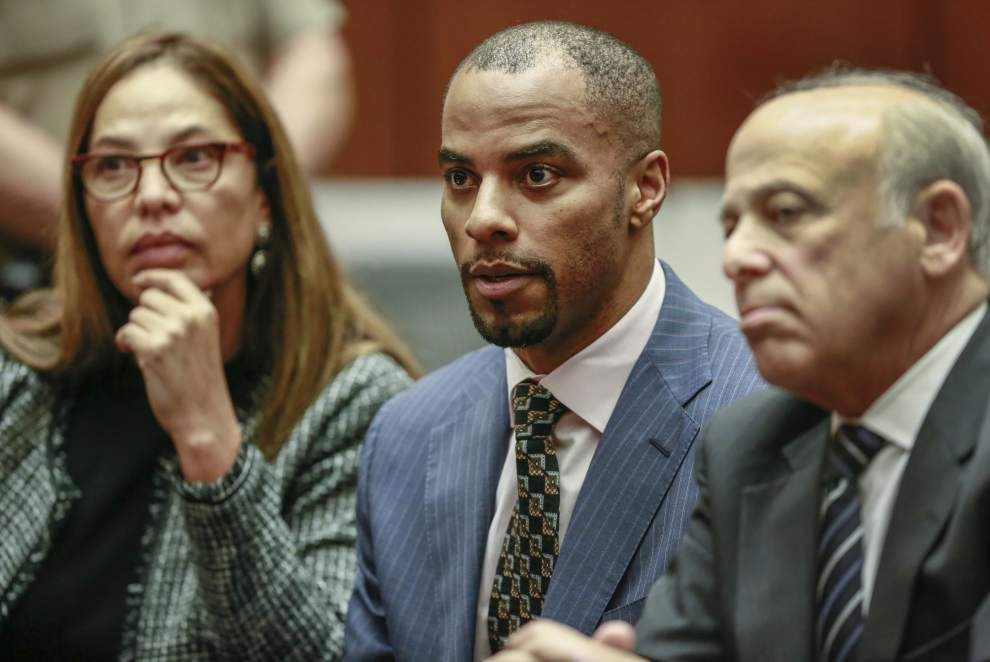 Darren Sharper returns to New Orleans, pleads not guilty to charges for drug conspiracy; but for now it's just a formality _lowres