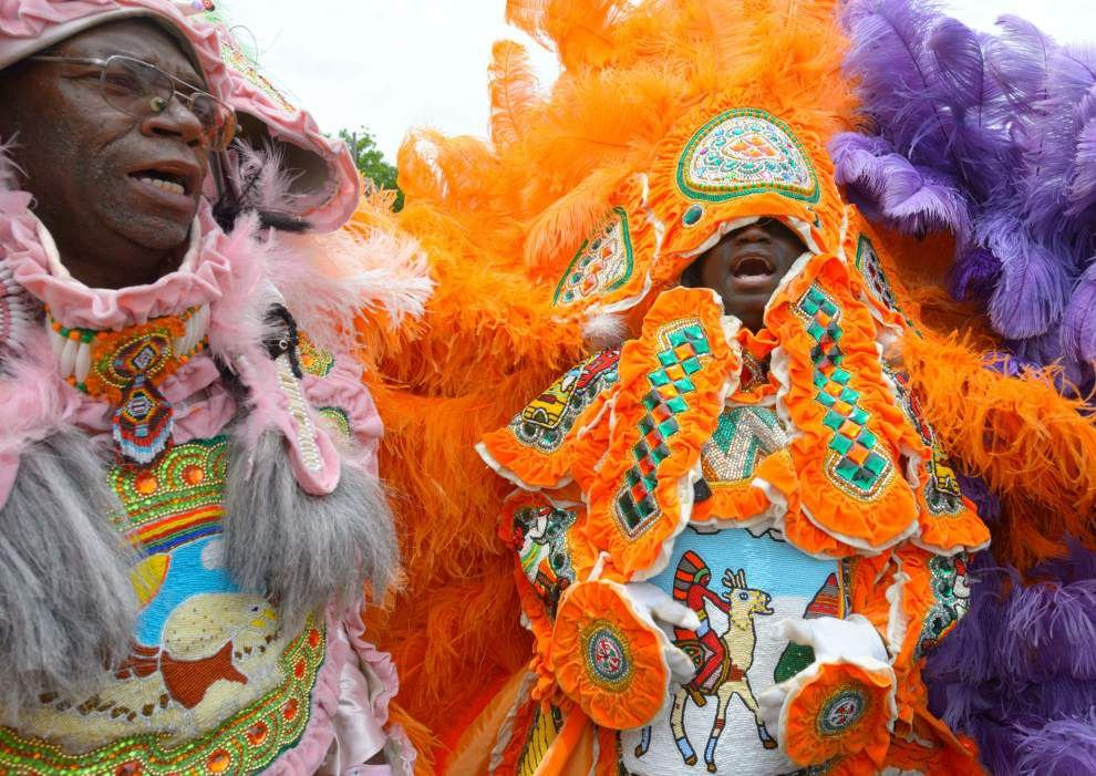 Photos: Funeral of Mardi Gras Indians Big Chief Larry Bannock _lowres