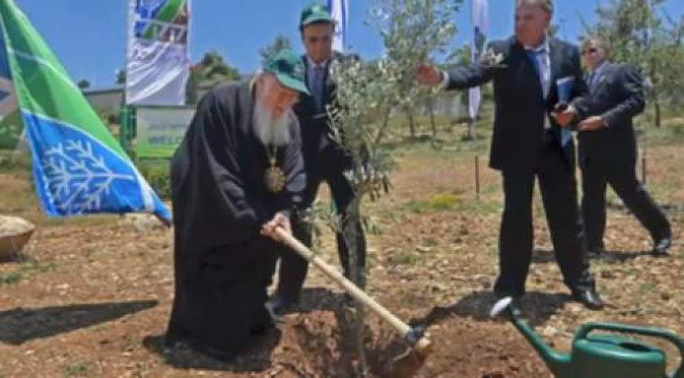 Video: Ecumenical Patriarch plants a tree at The Grove of Nations _lowres