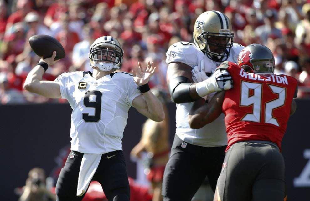 Drew Brees says he's impressed by Saints rookie quarterback Garrett Grayson _lowres