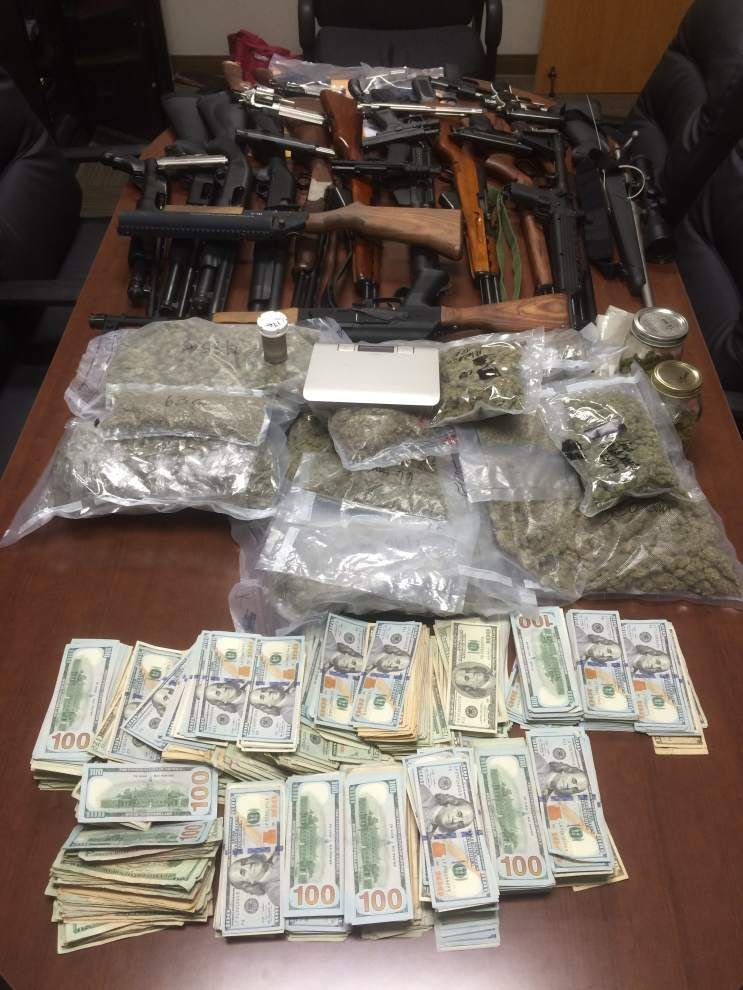 Baton Rouge drug bust results in 11 arrests; weapons, cash, narcotics seized _lowres