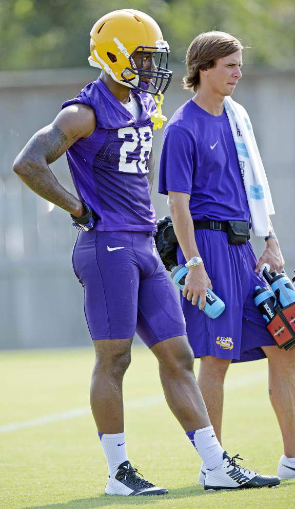 LSU CAMP REPORT: Safety Mills back practicing with apparent starters _lowres
