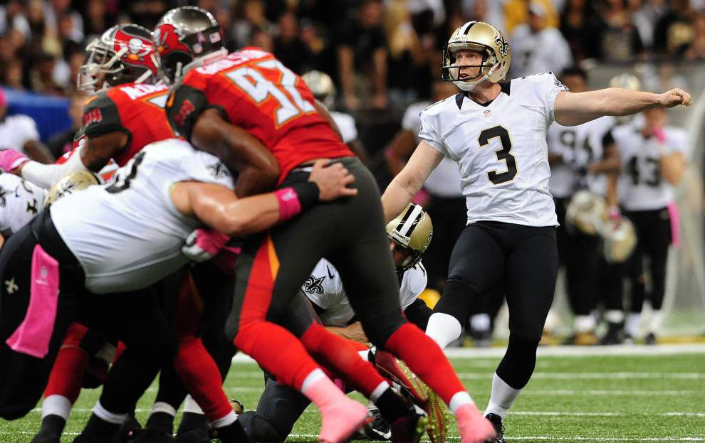Despite special teams award, New Orleans Saints kicker Shayne Graham not willing to rest on past made field goals _lowres