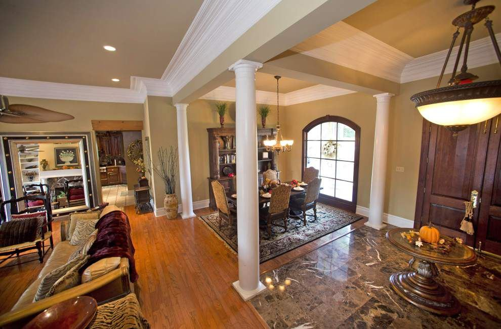 Jealous of the Holloways? They have indoor, outdoor kitchens; brick fireplace in pool house _lowres