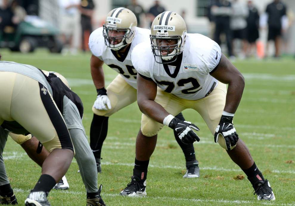 Saints left tackle Terron Armstead is confident he can play against Tampa on Sunday despite concussion in Dallas loss _lowres