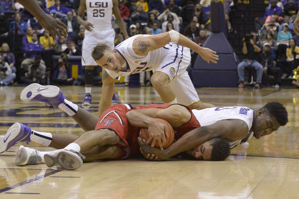 LSU men's basketball team defeats Texas Tech 69-64 in overtime _lowres