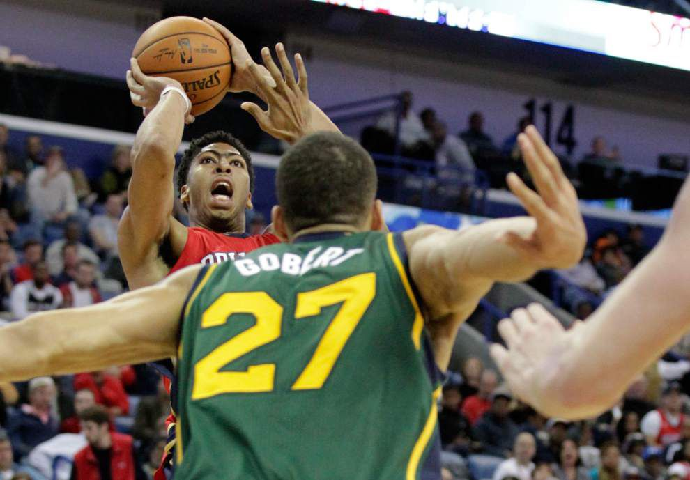 Photo gallery: Pelicans beat Jazz 119-111 _lowres