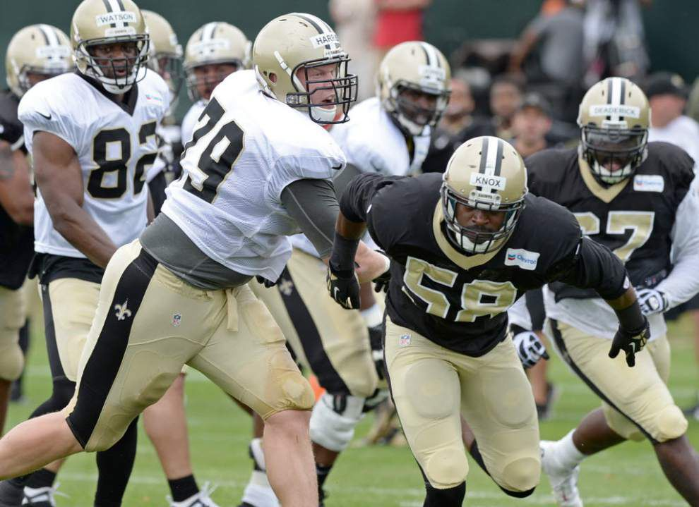 If the Saints need him against Atlanta, defensive tackle Bryce Harris will be coming off of his best performance _lowres