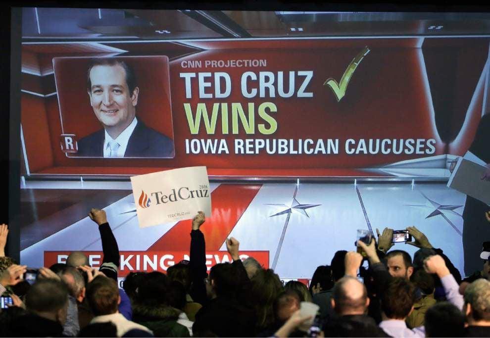 Cruz tops Trump in Iowa; Clinton, Sanders in tight Dem race _lowres