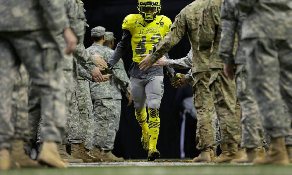 Derrius Guice, Derrick Dillon lead West to win in U.S. Army All-American Bowl _lowres