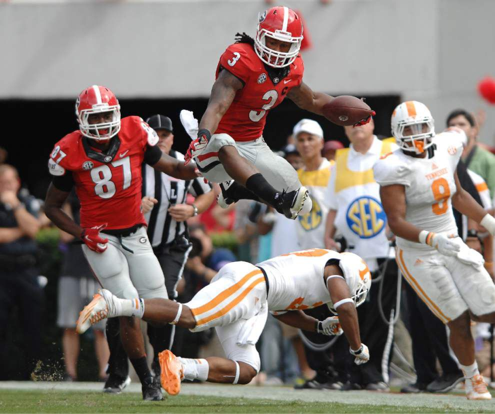 Georgia suspends running back Todd Gurley indefinitely _lowres