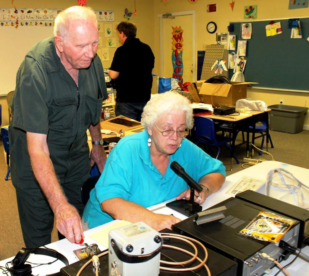 Amateur radio operators gather to discuss emergency communication procedures _lowres