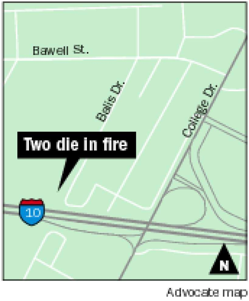 Baton Rouge couple perish in Balis Drive apartment fire _lowres