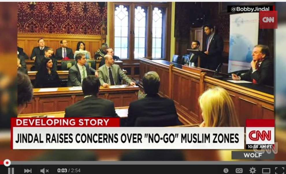 'He's out of his mind': National columnists slam Louisiana Gov. Bobby Jindal over 'no go zone' remarks in London _lowres