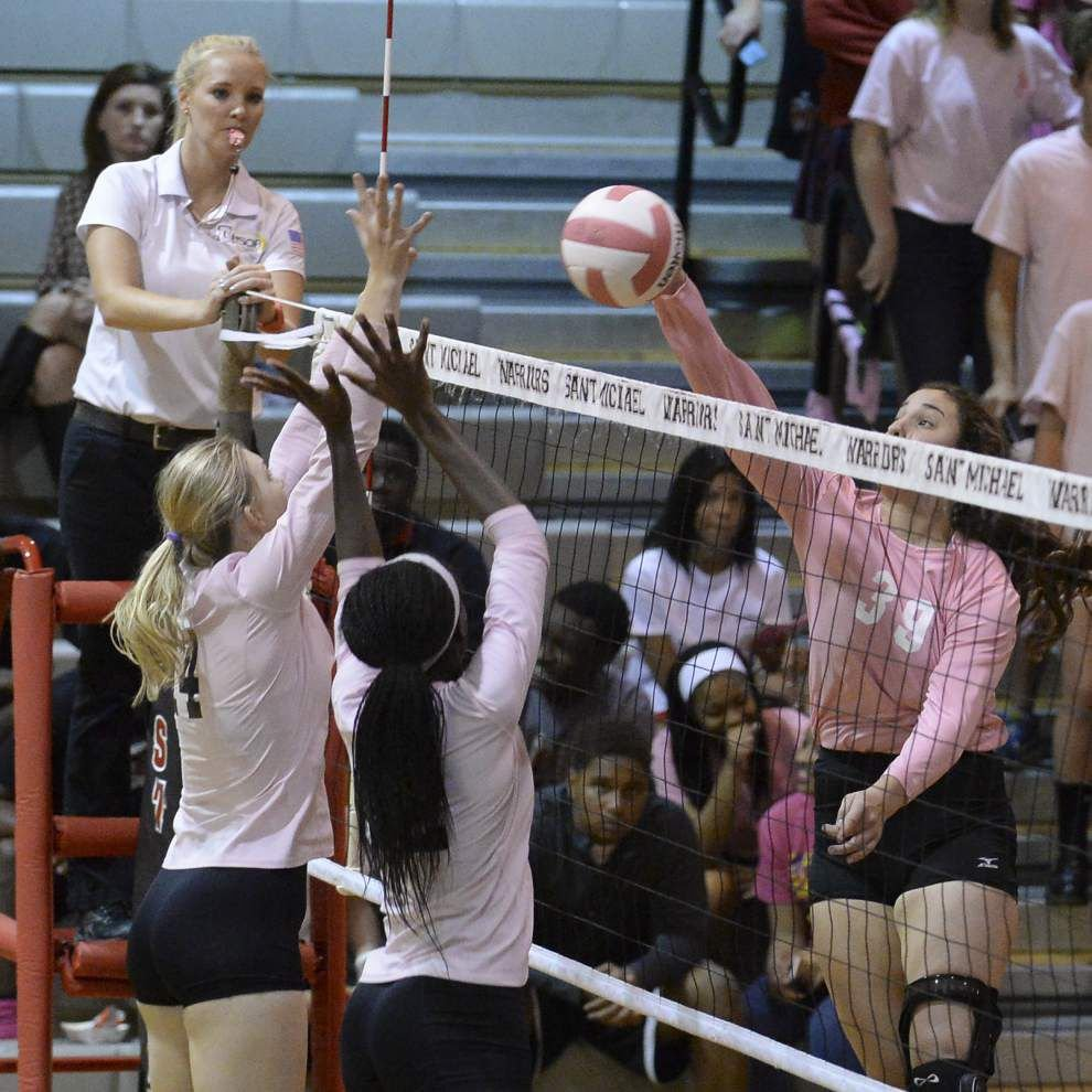 St. Michael tops Dunham in volleyball _lowres