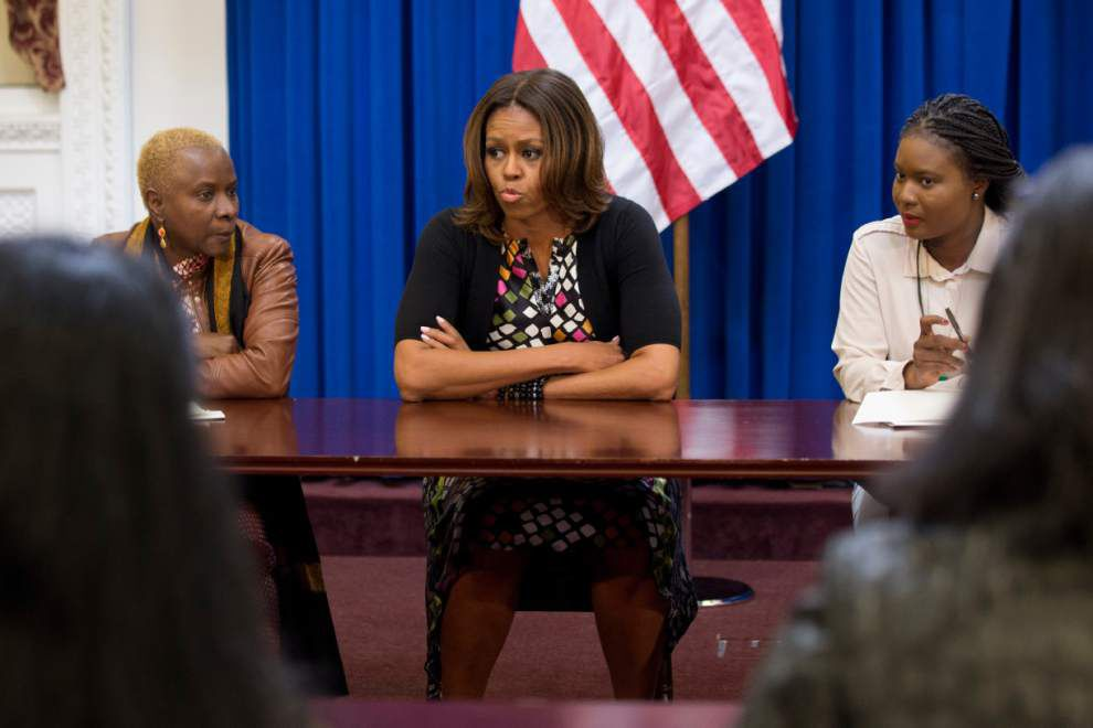 Michelle Obama hosts talk on girls' education _lowres