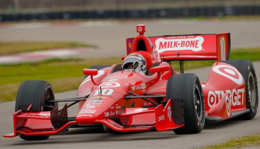 IndyCar drivers test Indy Grand Prix of Louisiana course _lowres
