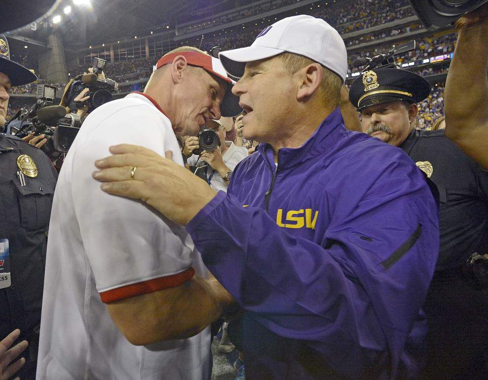 Video: LSU coach Les Miles says Tigers played sloppy at times in their 28-24 victory against Wisconsin _lowres