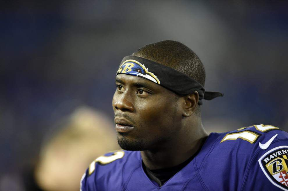 Former Ravens player Jacoby Jones signs with the San Diego Chargers _lowres