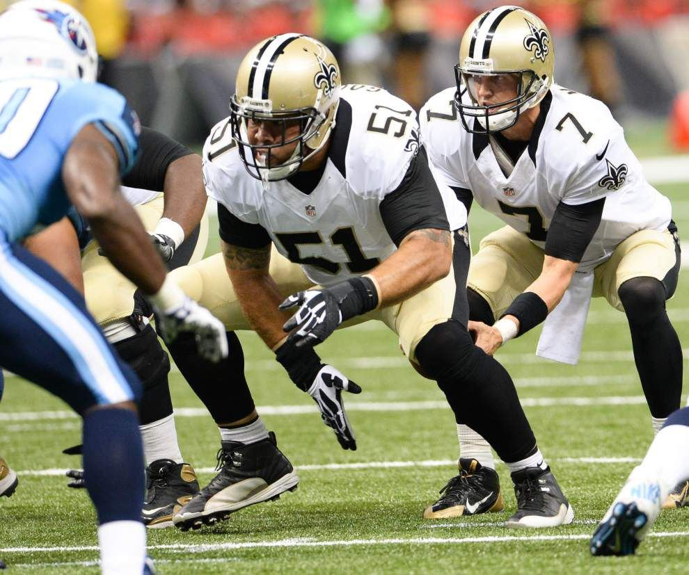 "Saints center Jonathan Goodwin listed as ""probable"" for Sunday's game against Tampa Bay _lowres"