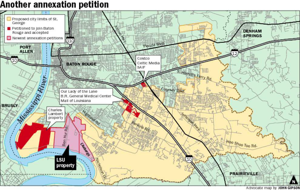 St. George takes another hit as LSU seeks annexation of property into Baton Rouge city limits _lowres