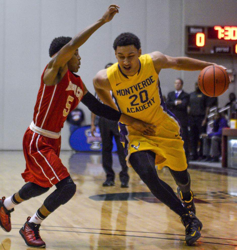 Superstar LSU basketball signee Ben Simmons takes up for Johnny Jones after Tigers' loss to Auburn _lowres