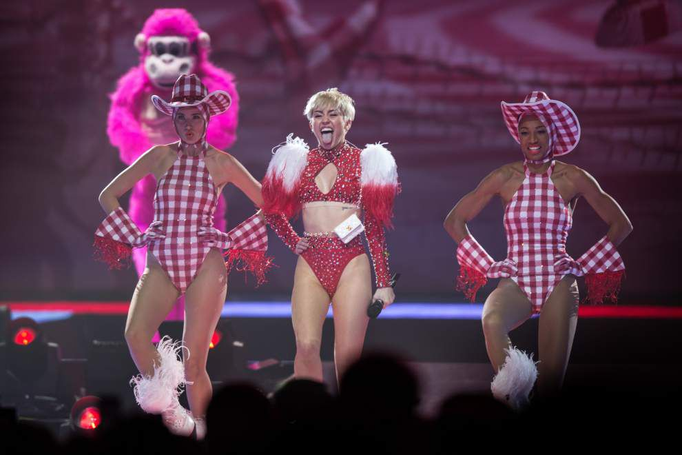 Review: Miley Cyrus show racy, but not raunchy -- and fun _lowres