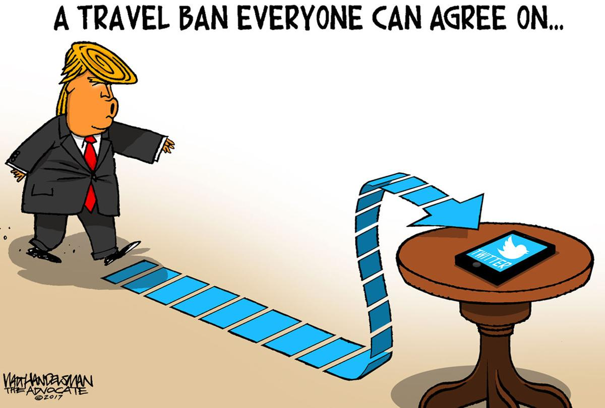 Walt Handelsman: Travel Ban