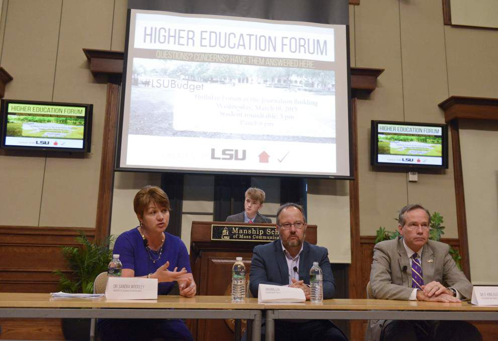 Uncertainty, confusion over Louisiana budget for coming year apparent as LSU students hold forum on threat of cuts _lowres