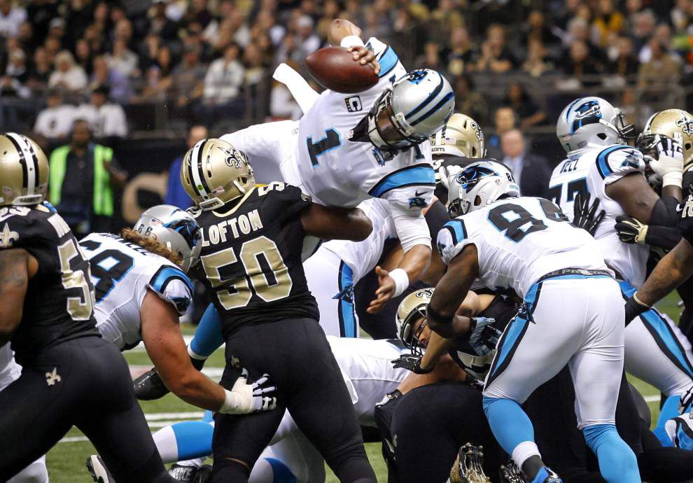 Saints linebacker Curtis Lofton fined $8,268 for his role in a brawl during the team's loss to the Carolina Panthers _lowres