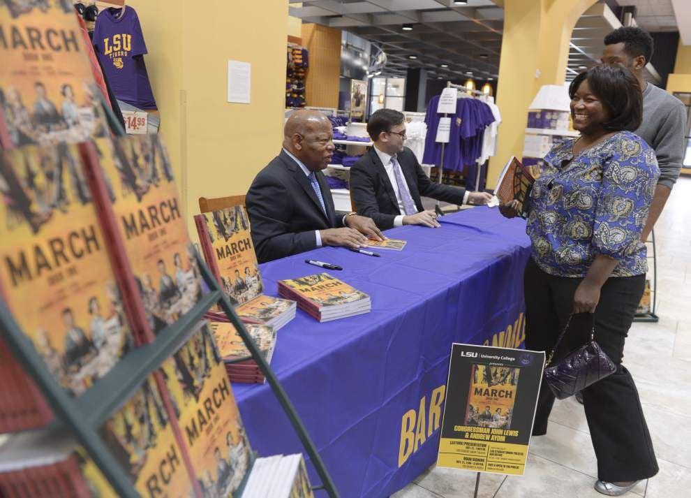 John Lewis talks civil rights struggle, new book at LSU _lowres