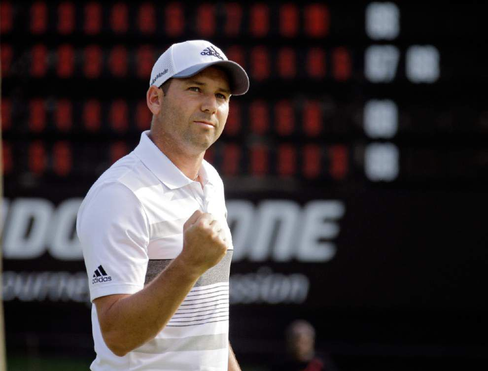 Sergio Garcia shoots 61 to take Firestone lead _lowres