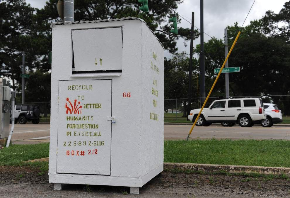 Donation boxes raising eyebrows in Lafayette — charities think they're a for-profit enterprise _lowres