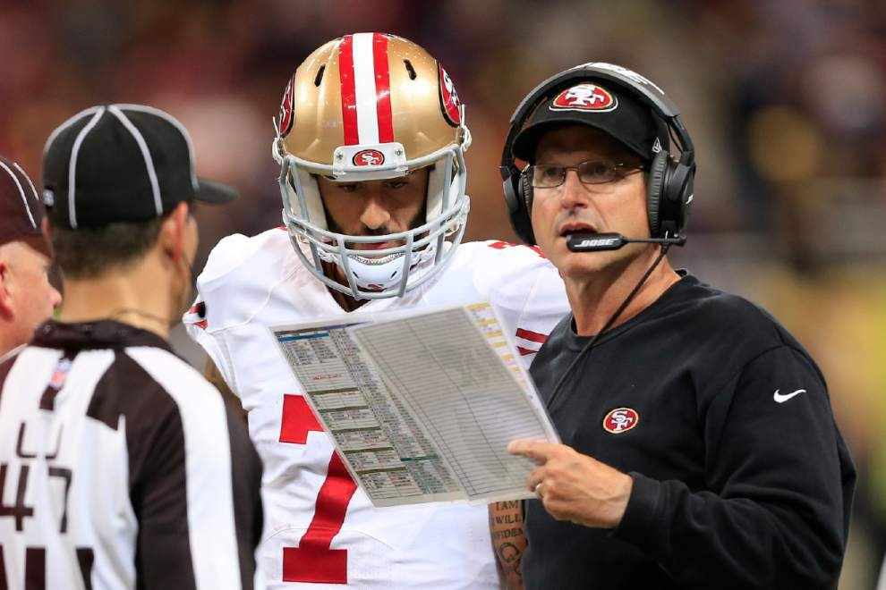Saints have a healthy respect for what Jim Harbaugh has built with the 49ers _lowres