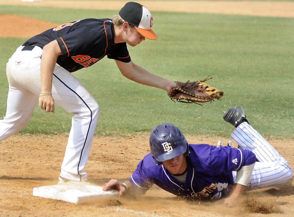 Inspired Catholic High pulls away from Denham Springs in baseball playoffs _lowres