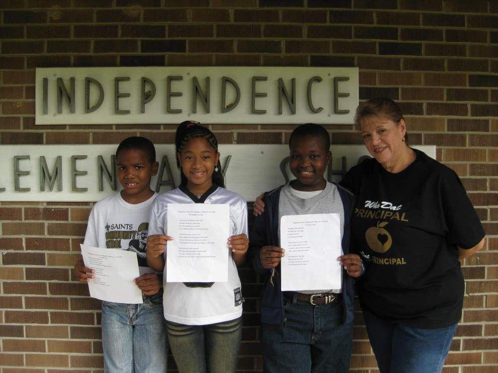 Fourth-graders enter parish fair poetry contest _lowres