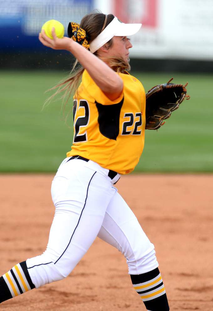 Kara Gremillion is going from three-sport star at St. Amant to focusing on softball and some new challenges as a player at Louisiana-Lafayette _lowres