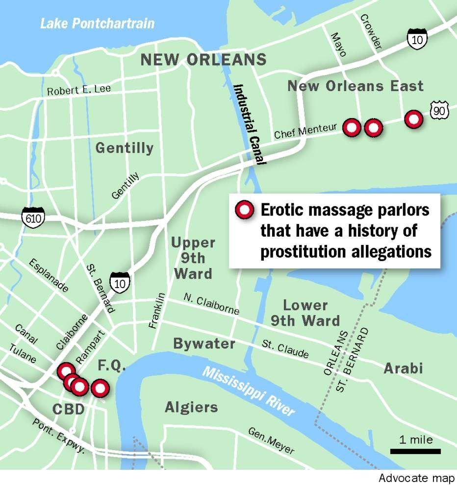 Erotic massage parlors retain strong foothold in New Orleans, as ...