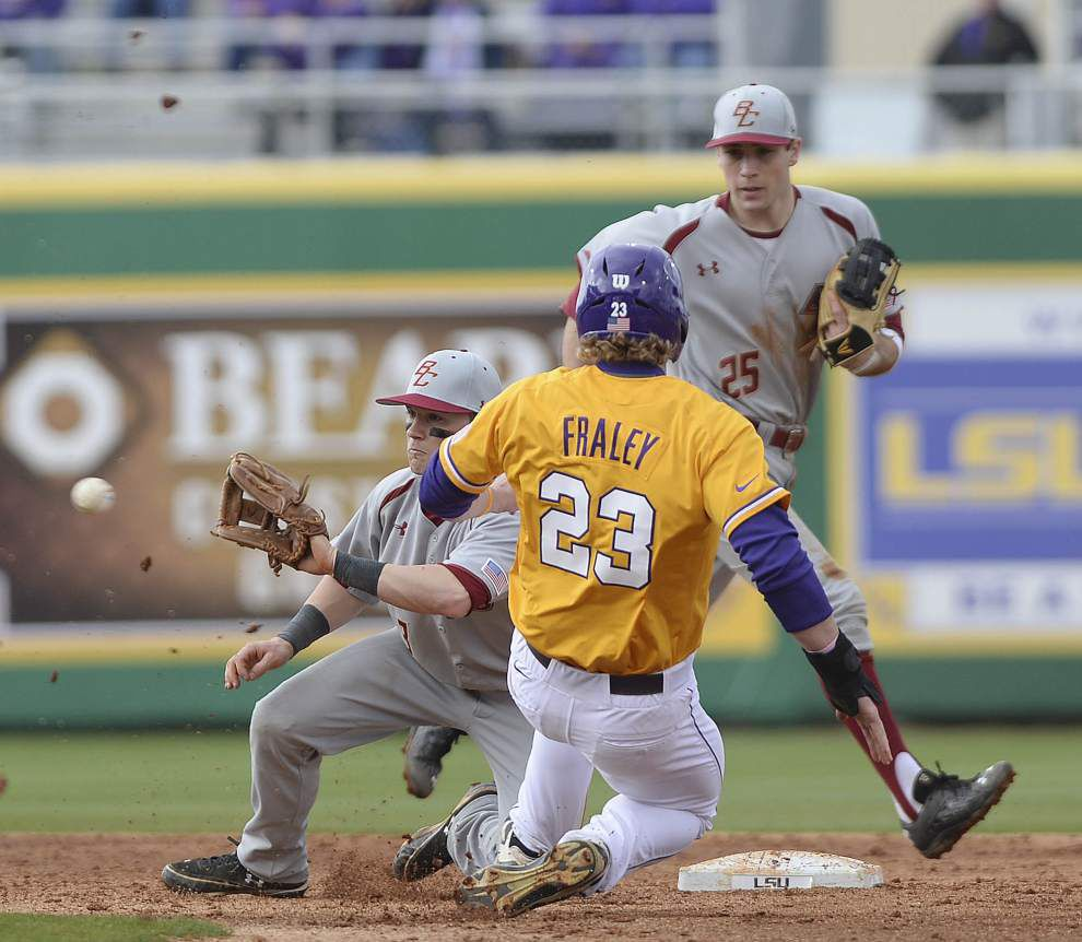 LSU balls and strikes blog: Tigers defeat Boston College 8-3 in the first game of a doubleheader _lowres
