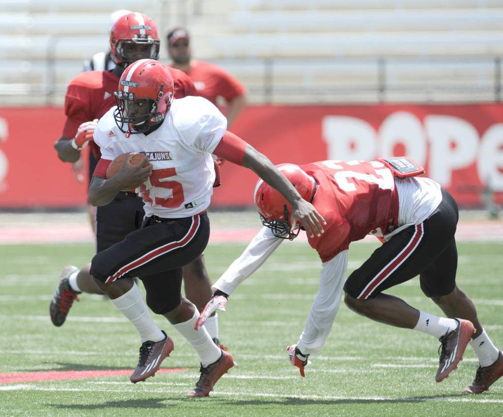 Cajuns camp report: Defense struggles early — and Mark Hudspeth notices _lowres