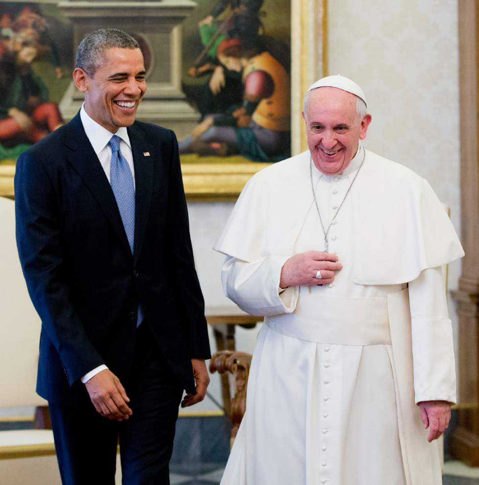 Obama tells Pope Francis he is a 'great admirer' _lowres