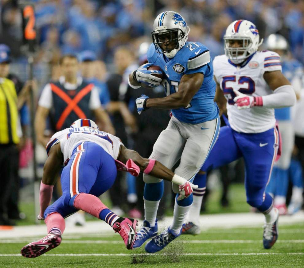 Injured Detroit Lions running back Reggie Bush expects to play against the Saints on Sunday _lowres