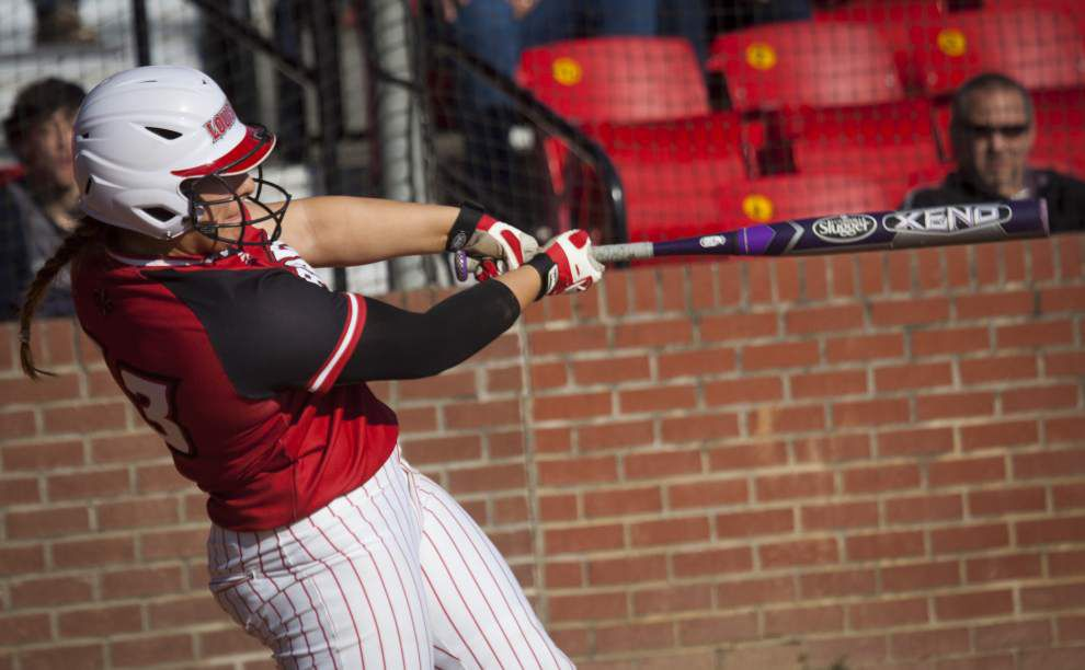 Ragin' Cajuns catcher Lexie Elkins heating up toward the end of the season (again) _lowres
